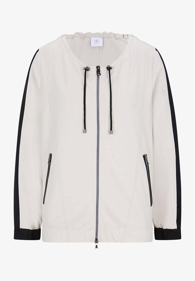 ISA - veste en sweat zippée - sand/schwarz