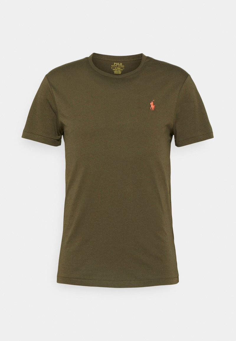 Polo Ralph Lauren - CUSTOM SLIM FIT JERSEY CREWNECK T-SHIRT - Basic T-shirt - defender green