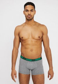 Puma - STRIPE BOXER 2 PACK - Panties - green - 1