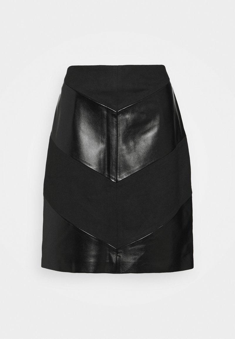 comma casual identity - Áčková sukně - black