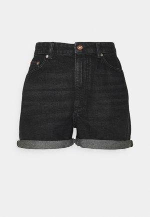 ONLBAY LIFE MOM - Denim shorts - black denim