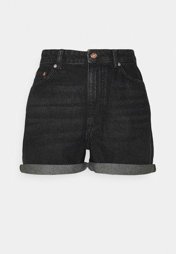 ONLBAY LIFE MOM - Shorts di jeans - black denim