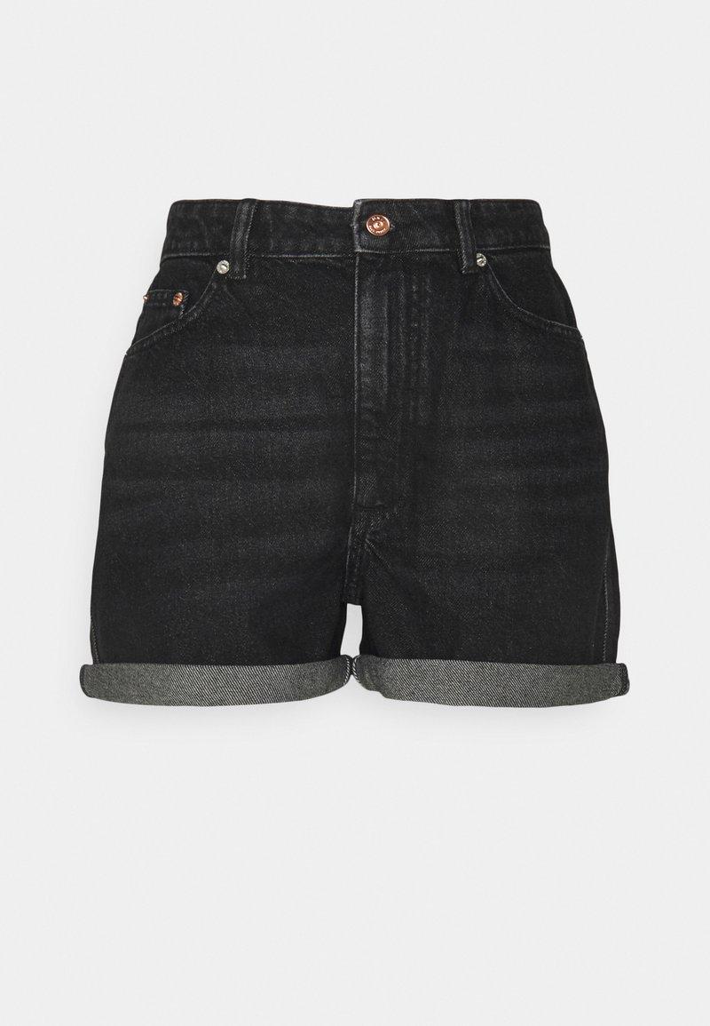 ONLY Tall - ONLBAY LIFE MOM - Shorts di jeans - black denim