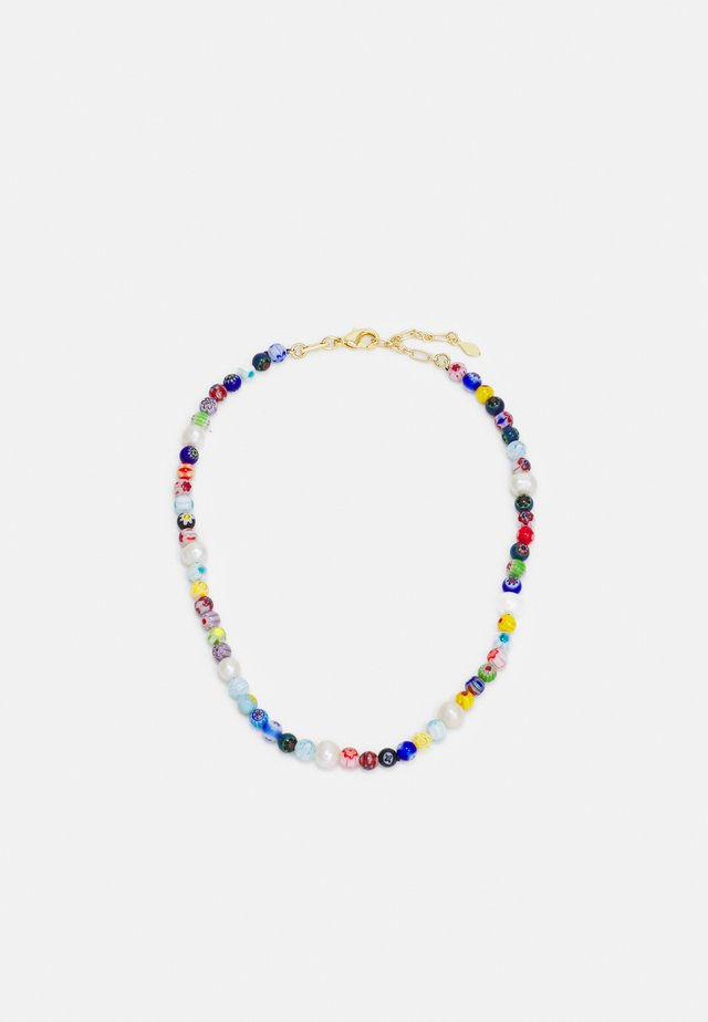 RAINBOW BEAD COLLAR NECKLACE - Necklace - multicolor