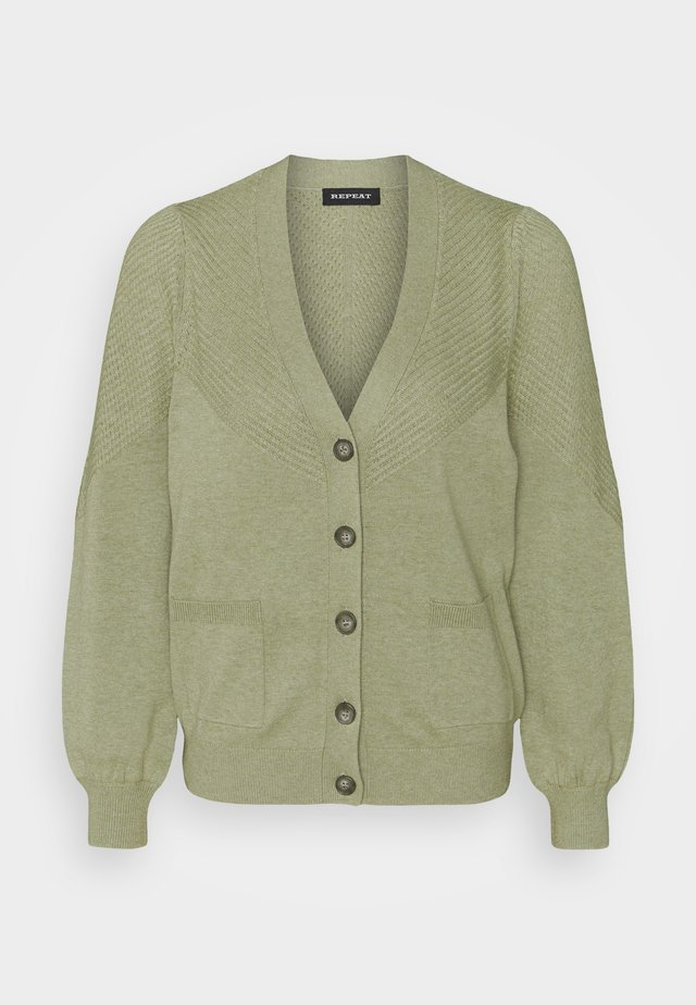 CARDIGAN - Strickjacke - green tea