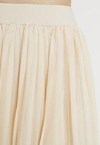 NA-KD - MIDI PLEATED SKIRT - A-line skirt - beige - 4