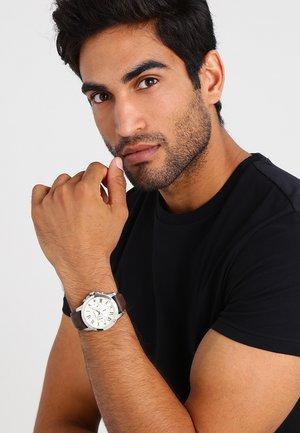 Chronograph watch - dark brown