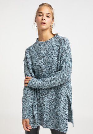 Jersey de punto - eisblau marine