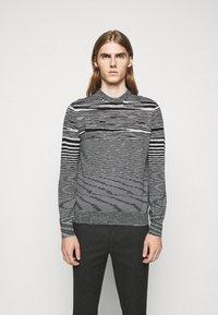 Missoni - SLEEVELESS CREWNECK - Pullover - black/white - 0