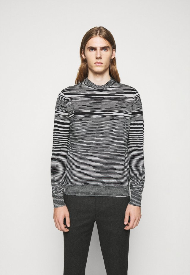SLEEVELESS CREWNECK - Jumper - black/white
