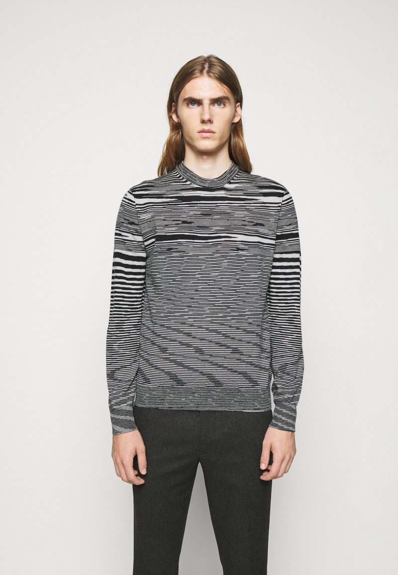 Missoni - SLEEVELESS CREWNECK - Pullover - black/white