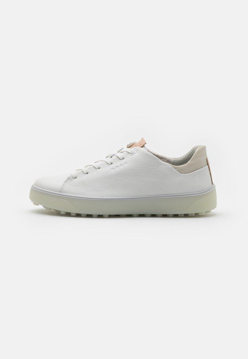 ECCO - TRAY - Golf shoes - white