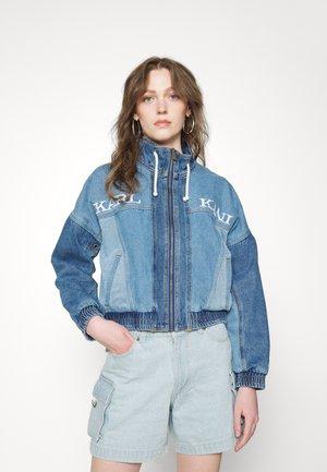 RETRO BLOCK JACKET - Denim jacket - blue