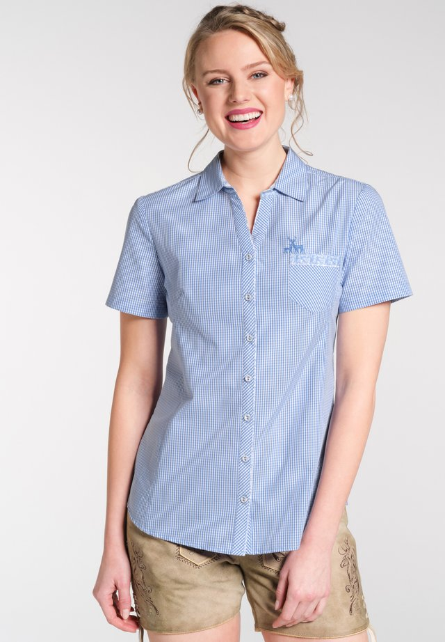NEST - Button-down blouse - blue
