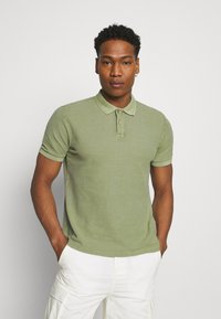Only & Sons - ONSPAGE SLIM WASHED - Polotričko - oil green - 0