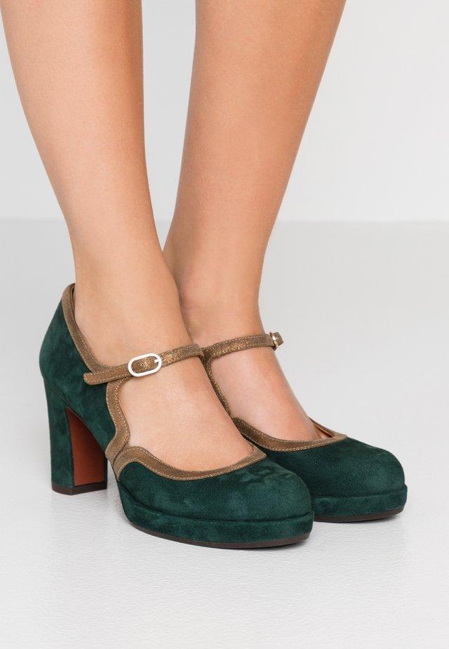 JOLY - Platform heels - alga/ gloss bronce