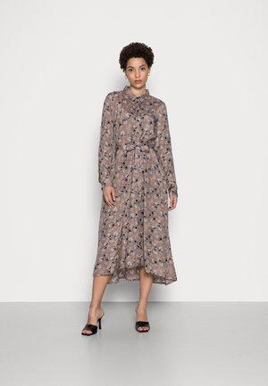 WITHER DRESS - Shirt dress - taupe grey/black