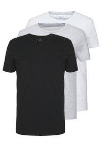 TOM TAILOR DENIM - 3 PACK - T-shirt basic - light stone/grey melange - 0