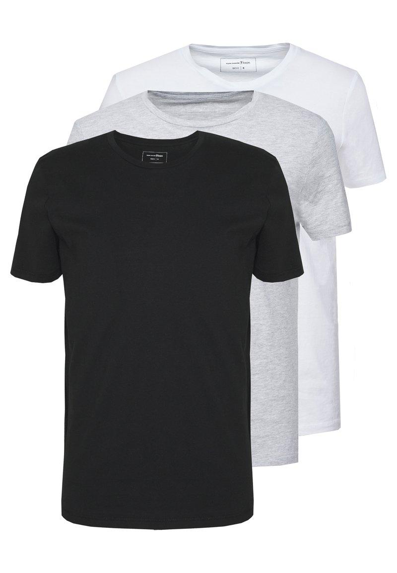 TOM TAILOR DENIM - 3 PACK - T-shirt basic - light stone/grey melange