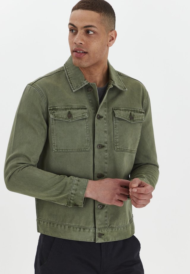 Denim jacket - ivy green