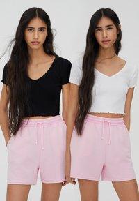 PULL&BEAR - 2PACK - T-shirt basic - white - 2