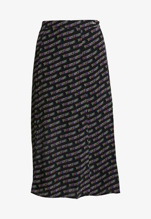 OUTLINE PRINT SKIRT - A-line skirt - tommy black