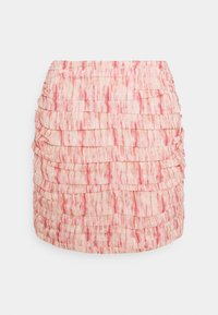 CMEO COLLECTIVE - WHIRL SKIR - Mini skirt - pink burnout - 0