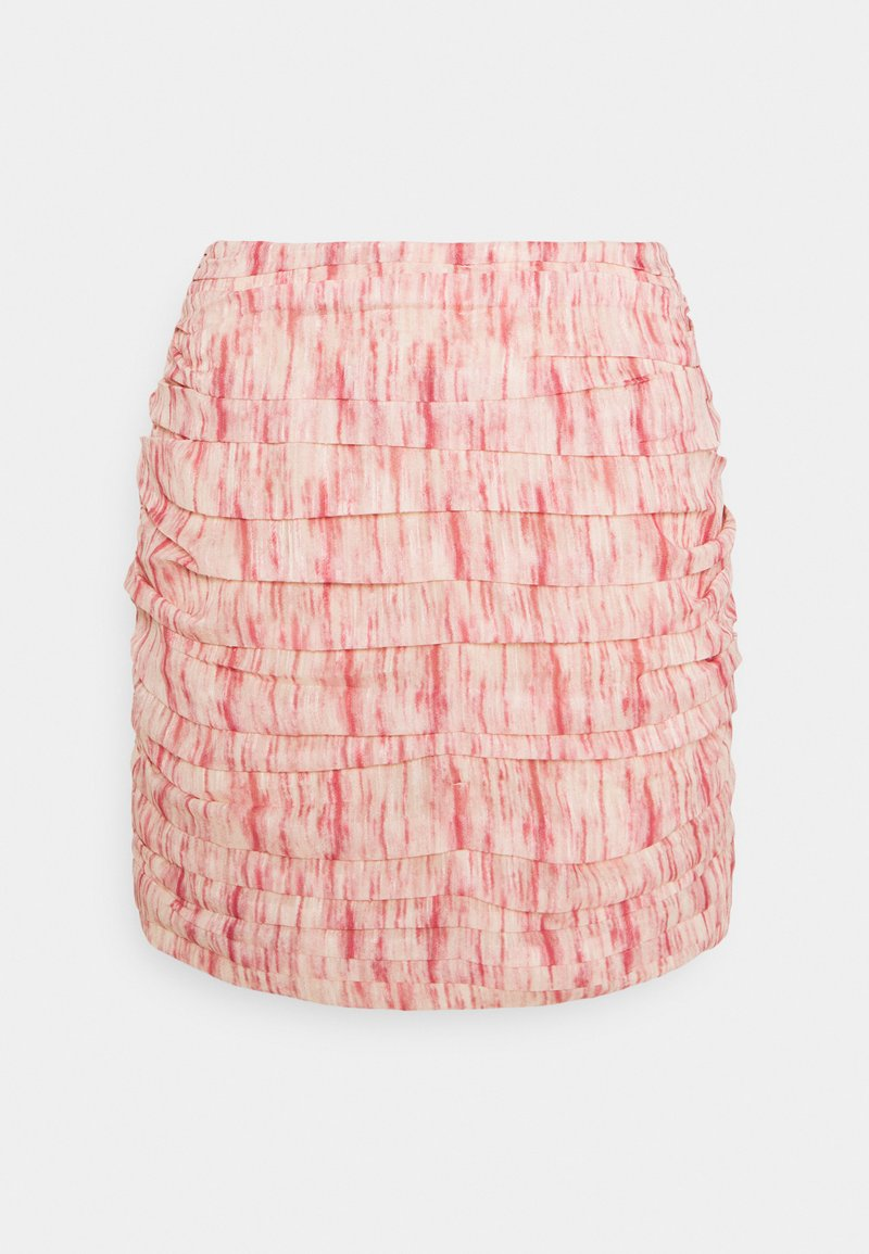CMEO COLLECTIVE - WHIRL SKIR - Mini skirt - pink burnout
