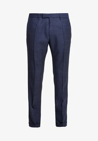 QUINTEN - Suit trousers - mottled dark blue