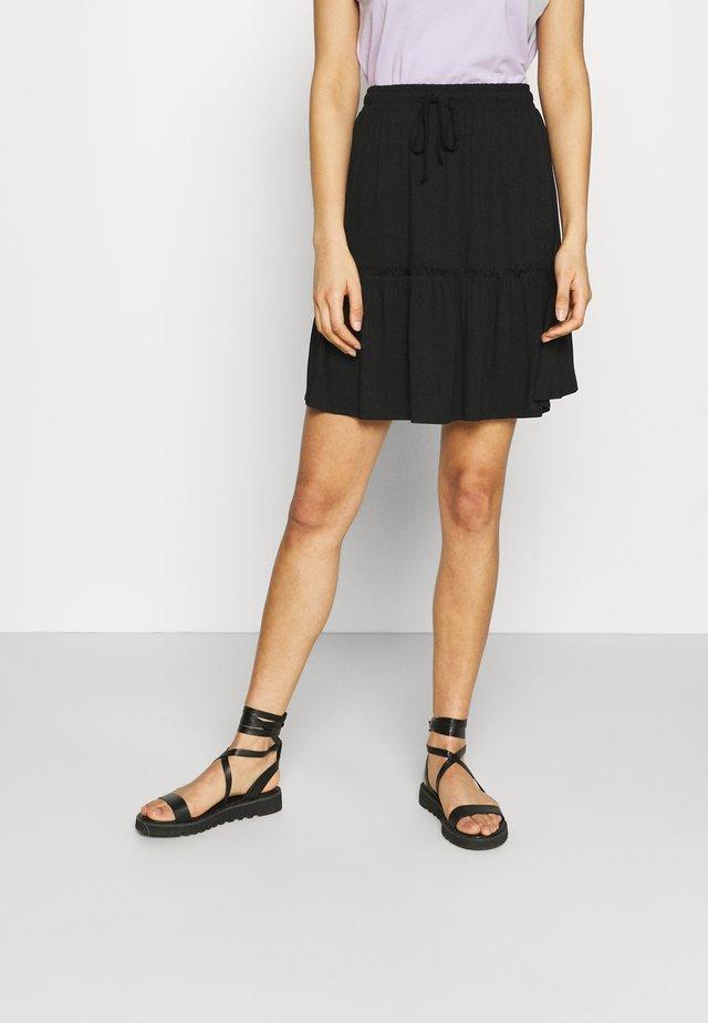 PCNEORA SKIRT - Spódnica trapezowa - black