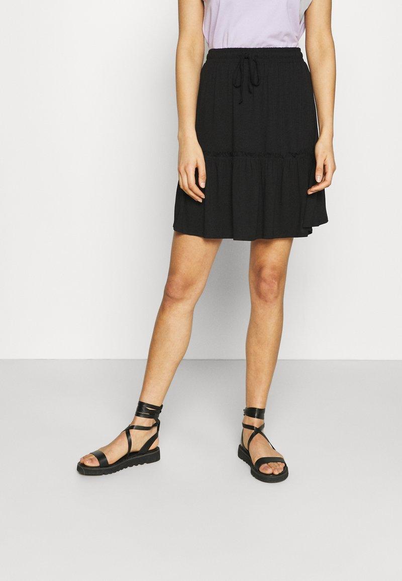 Pieces - PCNEORA SKIRT - A-line skirt - black