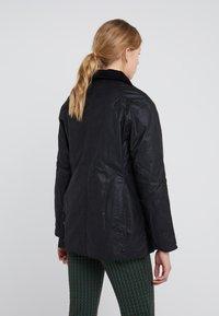 Barbour - BEADNELL WAX JACKET - Light jacket - black - 2
