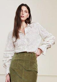 Fabienne Chapot - Button-down blouse - cream white - 0