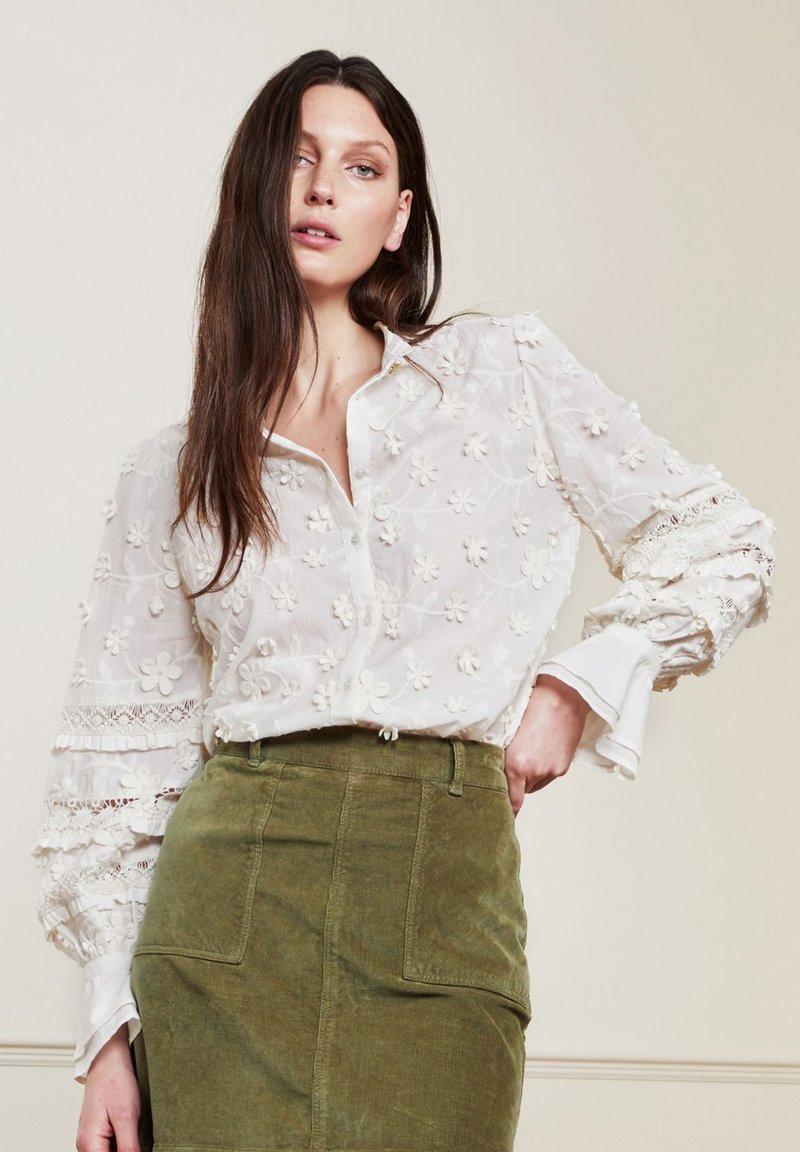 Fabienne Chapot - Button-down blouse - cream white