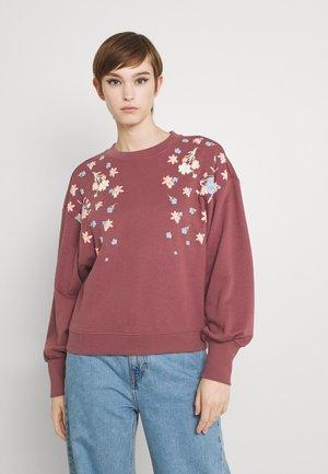ONLBROOKE O NECK FLOWER - Sweatshirt - rose brown