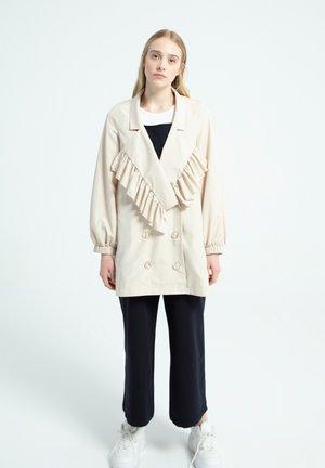 RUFFLE - Short coat - beige