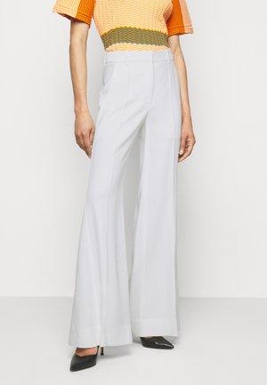 WIDE BOOTCUT TROUSER - Pantaloni - white