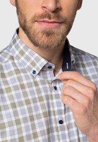 Eterna - MODERN FIT - Shirt - olive/blue - 2