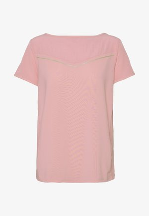 T-Shirt print - strawberry pink/white gold