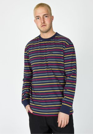 Long sleeved top - washed navy/lava red