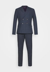Isaac Dewhirst - DOUBLE BREASTED WINDOWPANE CHECK SUIT - Completo - dark blue - 8