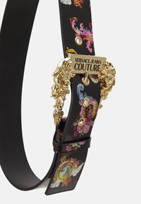 Versace Jeans Couture - LARGE BAROUE BUCKLE - Waist belt - black/yellow - 3