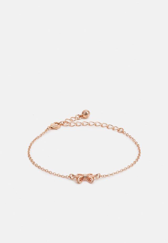 PARSA PETITE BOW BRACELET - Armband - rose gold-coloured
