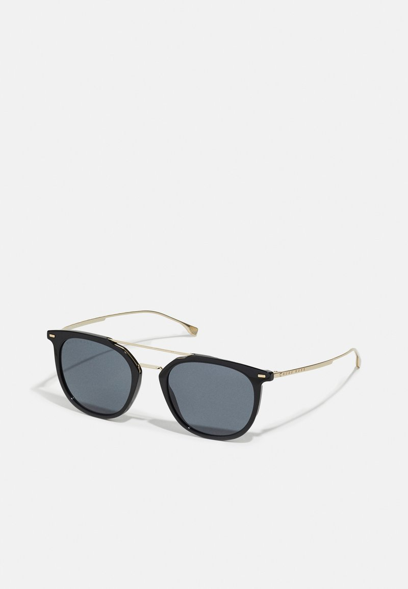 BOSS - UNISEX - Sunglasses - black gold-coloured