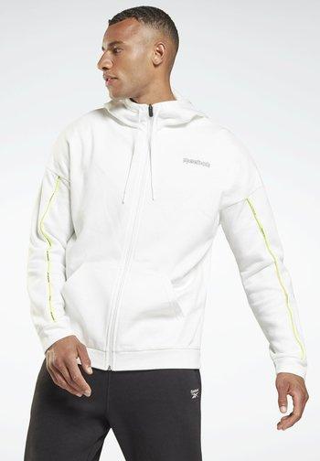 ESSENTIALS PIPING  - Zip-up sweatshirt - white
