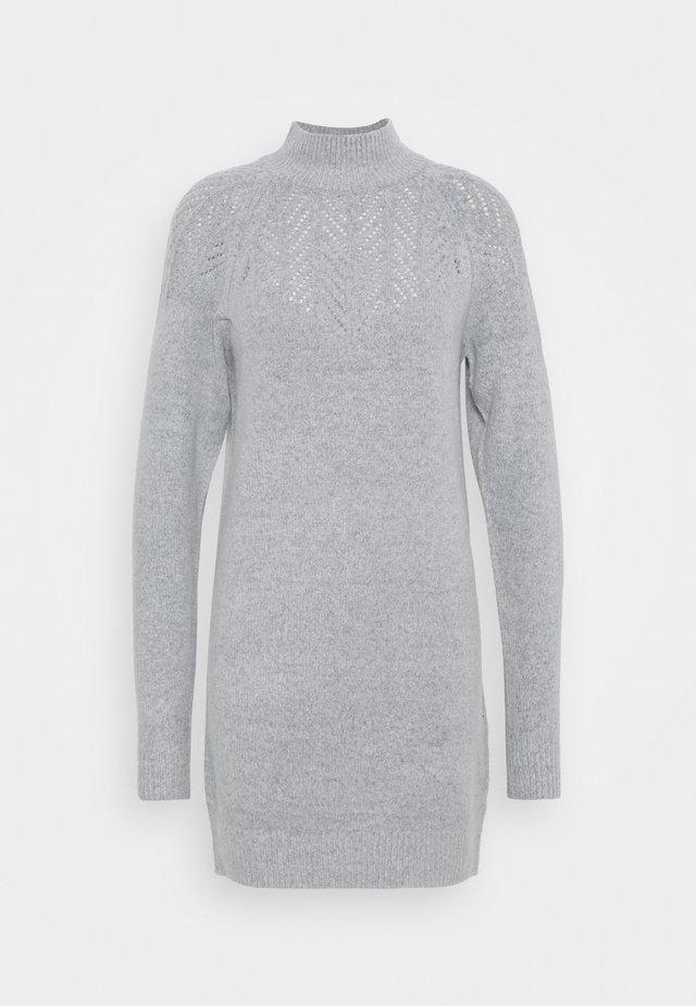 LONGLINE POINTELLE TUNIC - Vestido de punto - grey marl