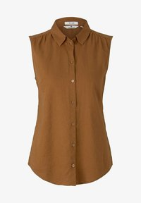 TOM TAILOR - Button-down blouse - caramel brown - 4