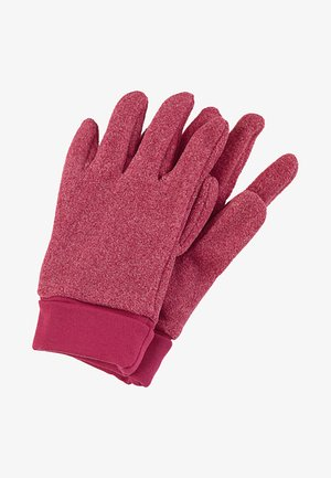 Gloves - red melange