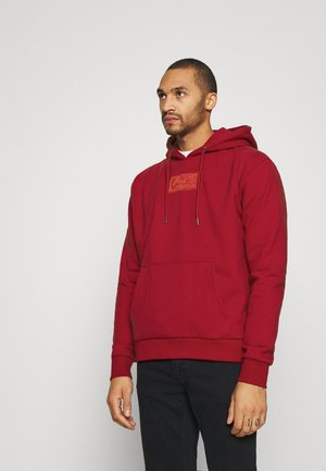 SMALL SIGNATURE BOX HOODIE UNISEX  - Mikina - dark red