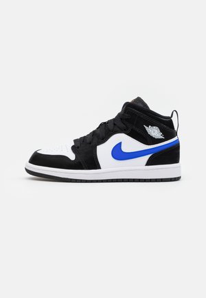 1 MID UNISEX - Basketbalové boty - black/racer blue/white/total orange